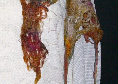 ageing and fading - the wedding dress (detail)