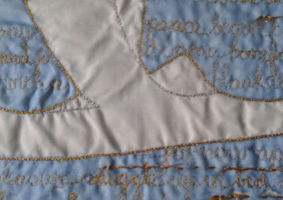 Pillow Case In Blue And Gold Detail